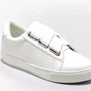 Women's Devoney Lace Up White Sneakers